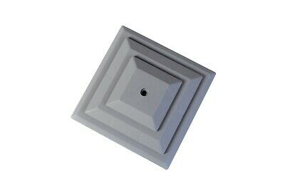 """Linic 15 x Grey 4"""" or 100mm Plastic Fence Post Cap Top Finial UK Made GT0050"""
