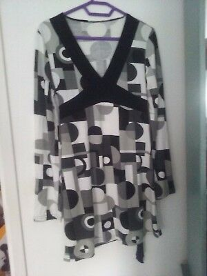 Neuf 40-56 à Motif 054 Sheego Mon Style Taille Grande Long Robe Tunique Gr