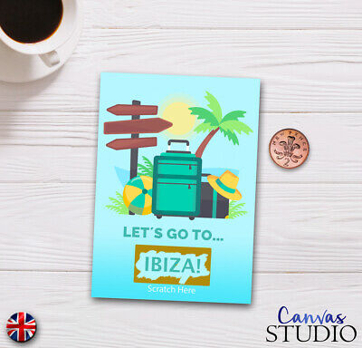 Personalised Travel Surprise Scratch Off Cards Present Holiday Birthday Novelty