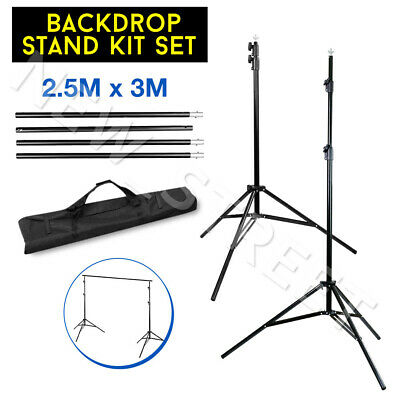 2.5x3m Heavy Duty Backdrop Support Stand Background Photography Lighting System