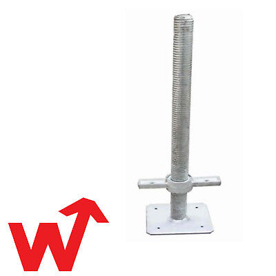 4 x Scaffold Adjustable 500mm Base Jacks 4Tonne Base Jack Screw Jack