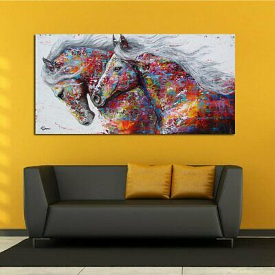Colourful Pentium Horse Oil Painting Canva Painting No Frame Wall Display AZ