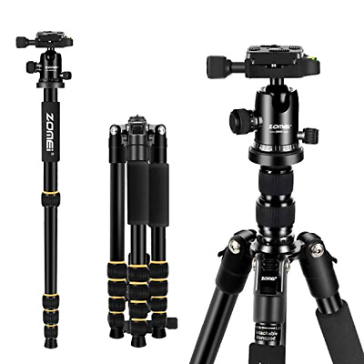 ZOMEi Q666 Tripod Magnesium Aluminum Alloy Light Weight Portable Camera Tripod
