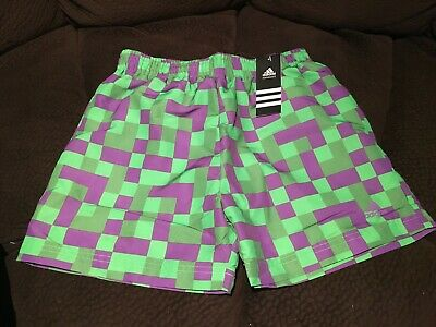 Authentic ADIDAS Short Pants (Green/Violet) sizes 12 and 14 - New with tag