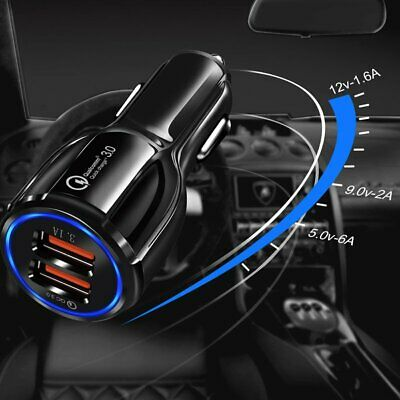 12V Dual USB Car Charger Power Adapter Cigarette Lighter Socket/Plug/Connector