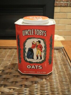 Uncle Tobys  Oats Vintage Collectible Tin - Empty
