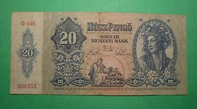 Ww2 20 Pengo Note From Hungary 1941.
