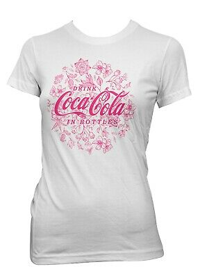 Coca Cola Drink Floral Logo  Woman Summer T-shirt