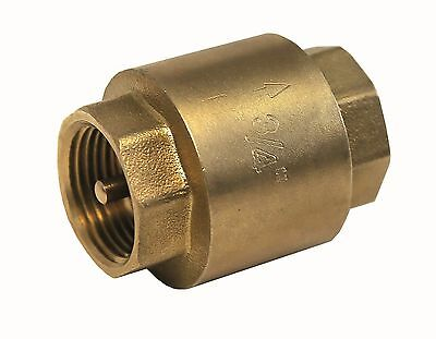 "Spring Check Valves Non-Return .  Brass  Female x Female BSP   Sizes 1/2"" To 4"""