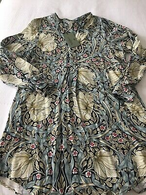 de388057b041 H&M WILLIAM MORRIS and Co blue floral tunic dress size 14, new with ...
