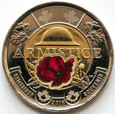 Canada 2 dollars 2018 100 years of the end of the First World War color (#4598)