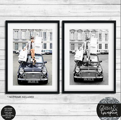 Fashion Art Vintage Coco Poster, black and white, Scandi Nordic Wall Art Print