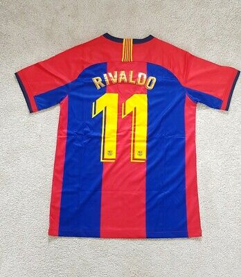 Barcelona Rivaldo 11 Football Shirt 1998 98 Medium M