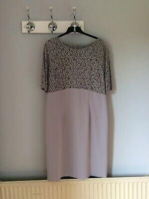 Jacques vert Size 18 Grey Lace Dress