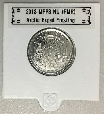 CANADA 2013 New 25 cents Arctic Expedition FROSTING (BU From roll)