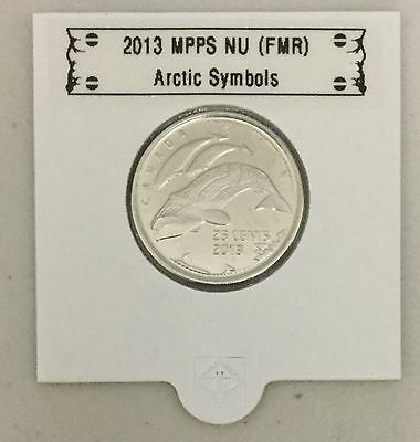 CANADA 2013 New 25 cents Arctic Symbols (BU directly from mint roll)