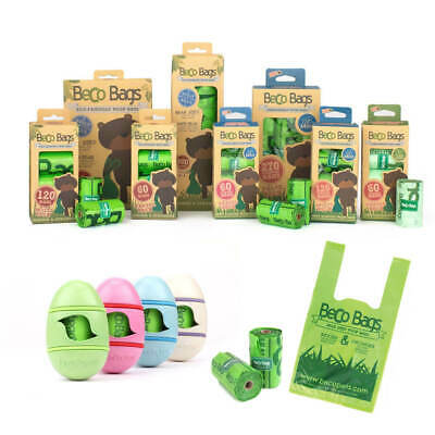 Beco Biodegradable Dog Poo Bags Strong Dog Waste Bags - Unscented & Mint Scented