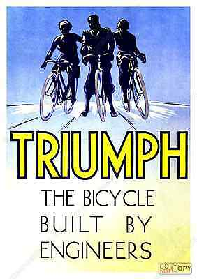 Cycling magazine ad Reproduction Triumph cycles poster Wall art.