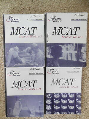 THE PRINCETON REVIEW: Full MCAT Set plus added books! - $80 00