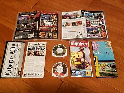 GRAND THEFT AUTO Liberty City Stories UMD,Manual,Map Only! SONY PSP