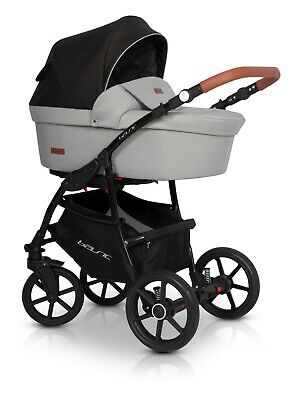 Baby Pram Stroller Buggy Pushchair Riko Basic 3in1+ Free accessories