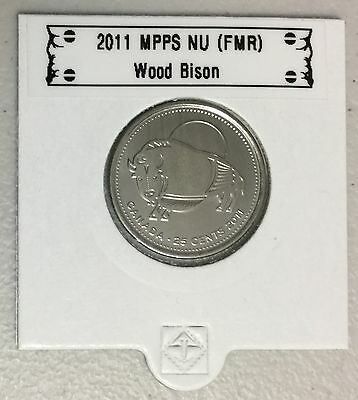 CANADA 2011 New 25 cents Wood Bison (BU directly from mint roll)