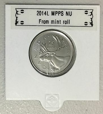 CANADA 2014 New 25 cents (BU directly from mint roll)