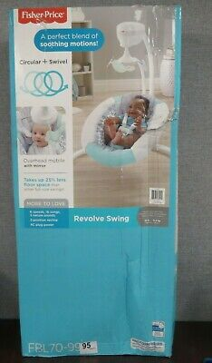 Fisher Price Infant Baby Revolve Swing Rocker Seat Cradle w/ Mobile ~NEW~