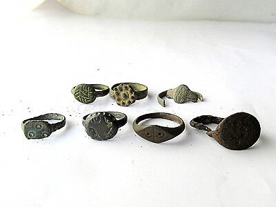 Ancient Roman Bronze Finger Rings 7 pieces  3P