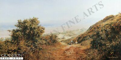 English Landscape Art Print Hey, Wait for Us by Rex Preston sold out rare