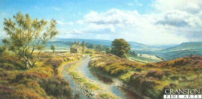 English Landscape Art Print  Moorland View by Rex Preston sold out rare