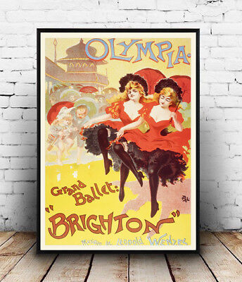 Wall art. New Brighton Vintage Rail travel advert Reproduction poster