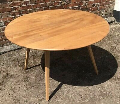 Ercol Windsor Blonde Circular Drop Leaf Dining Table