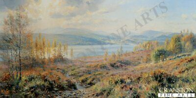 English Landscape Art Print Loch Garry by Rex Preston sold out at publisher rare