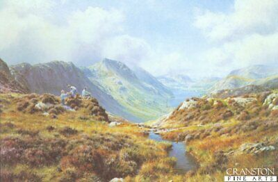 English Landscape Art Print ,Picnic at Buttermere by Rex Preston sold out