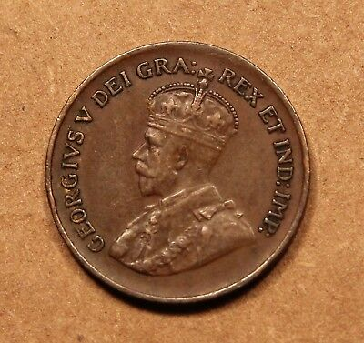 1929 Canada Small Cent. King George V. Better grade VF-EF.