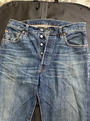 Levis 501xx Big E Selvedge Jeans Retro 555