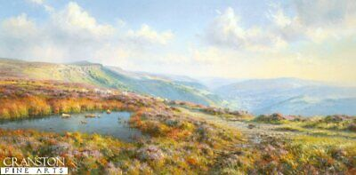 English Landscape Art Print View From the Moors by Rex Preston.sold out rare