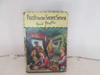 Puzzle for the Secret Seven Enid Blyton 1 Edition Hardback with Dust Jacket