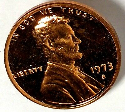 1973-S 1C Lincoln Memorial Cent 18rr1705-1 DCG Proof Only 50 Cents for Shipping
