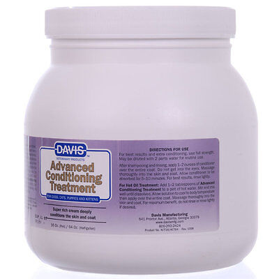 Davis Advanced Conditioning Treatment For Dogs Cats Pets 64 Oz