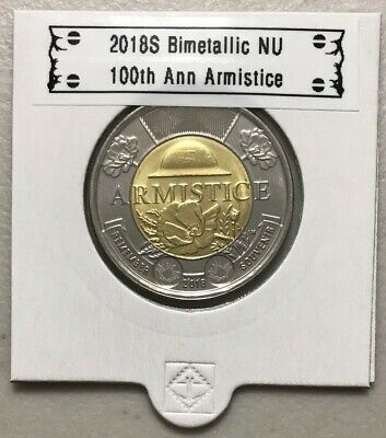 CANADA 2018 New $2 Toonie 100th Ann. Armistice 1918 (UNC From mint roll)