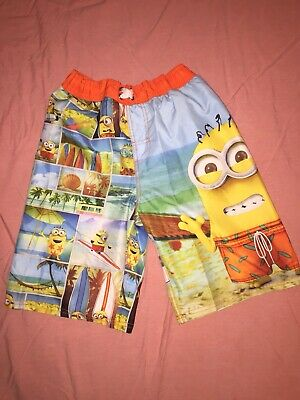 fb67d3d946ccd Boys Youth Despicable Me Minions Swim Shorts Swimming Suit Large 10 12