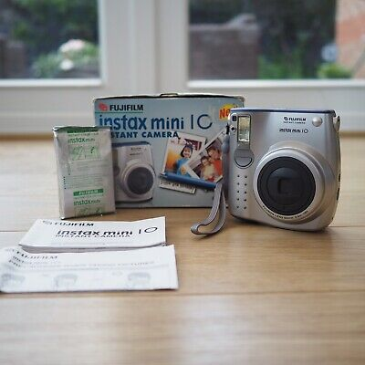 Boxed Fujifilm Instax Mini 10 Camera Colour Instant Polaroid With Film