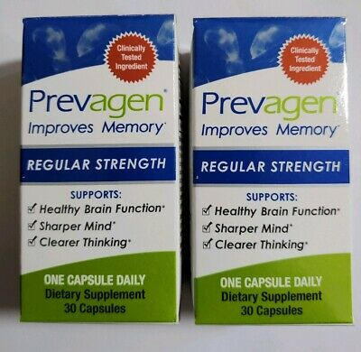 2 Prevagen Regular Strength 30ct 100% Genuine New Sealed In Box Or No Box 60 ct