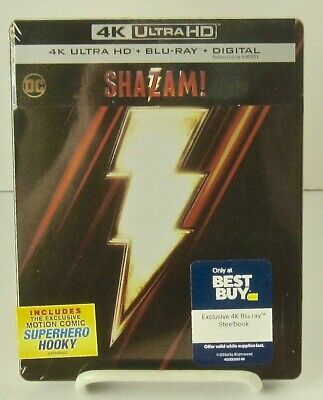 Shazam! 2019 BestBuy SteelBook Ultra 4k UHD+Blu-ray+Digital Warner Bros 7/16