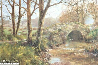 English Landscape Art PrintDaffodil Walk by David Dipnall.. sold out rare