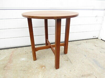 Stickley cherry mission  table with Arts and Craft inlay