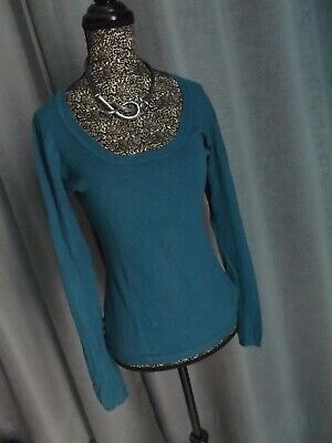 PULL BLEU, COL rond, manches longues, taille M JULES EUR