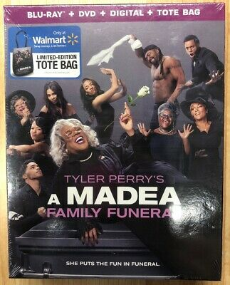A Madea Family Funeral (Blu-Ray + DVD + Digital) W/Limited Ed Tote Bag Brand New
